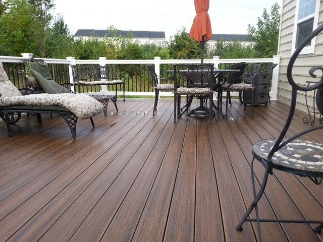 Trex Spiced Rum Deck Outdoor Living Deck Deck Designs Backyard Building A Deck