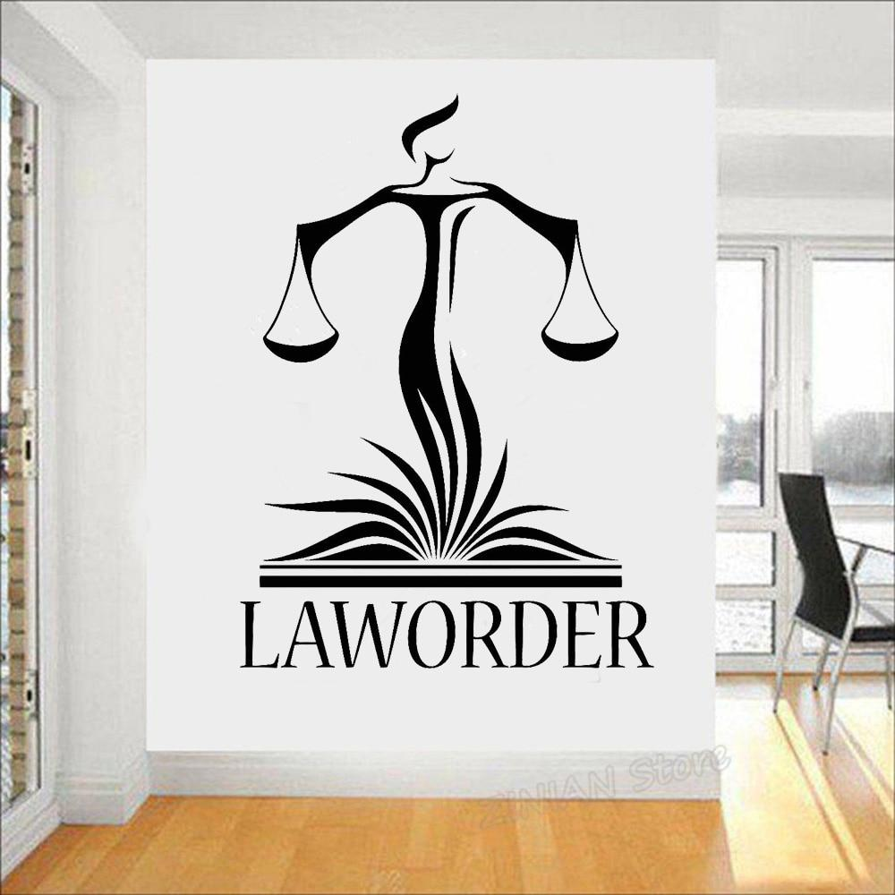Law Office Wall Decor Decals Lawyer Justice Libra Court Stickers Modern Home Interior Decoration Wallpaper Z959 In 2021 Wall Decor Decals Wall Decor Pictures Law Office Decor
