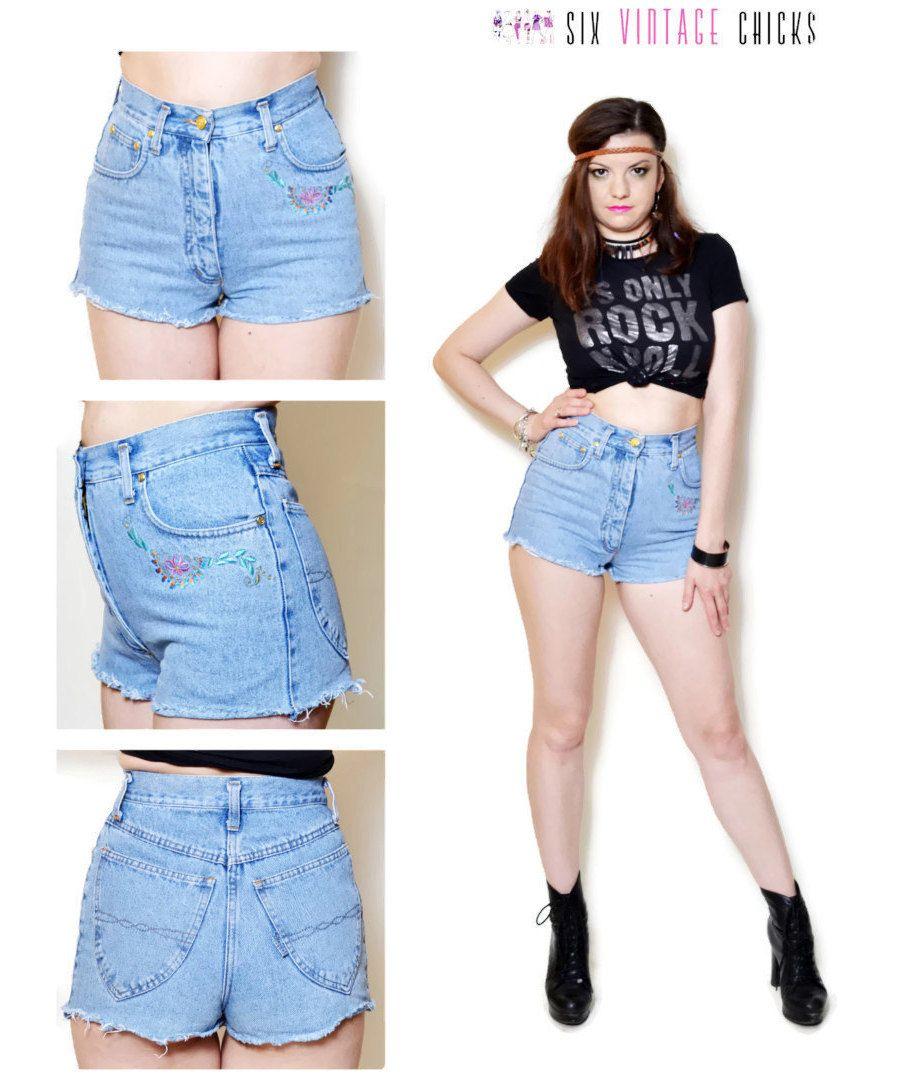 high waisted shorts women jean shorts boho daisy duke denim shorts ...