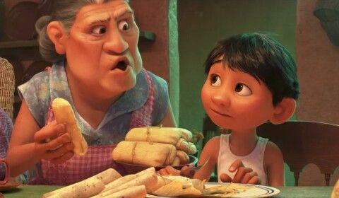 adb6d7be87 Coco pixar. Miguel and su abuela eating tamales   Coco - Pixar ...
