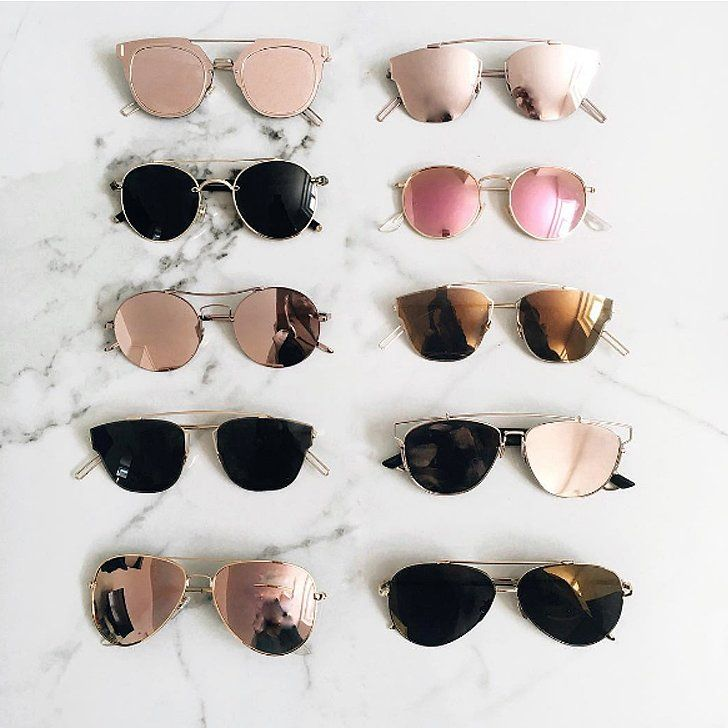 557e3defbe2 Meet and shop the biggest new trend in sunglasses fashion Instagrammers are  completely obsessed with  metal-rim sunnies.