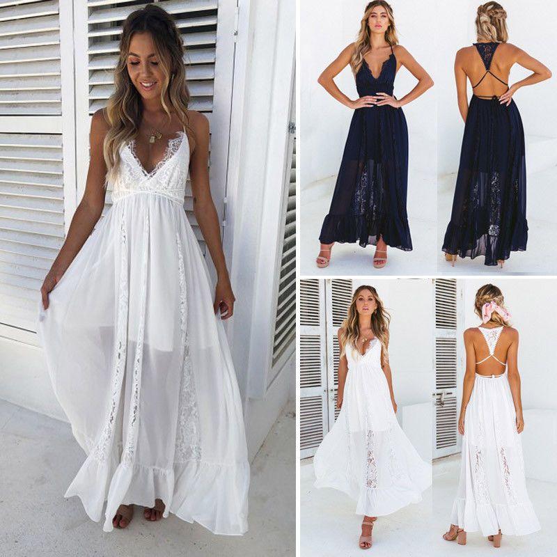 78f060a629b4 US Stock Women Summer Boho Long Maxi Evening Party Cocktail Beach Dress  Sundress #Unbranded #MaxiDress #PartyCocktail