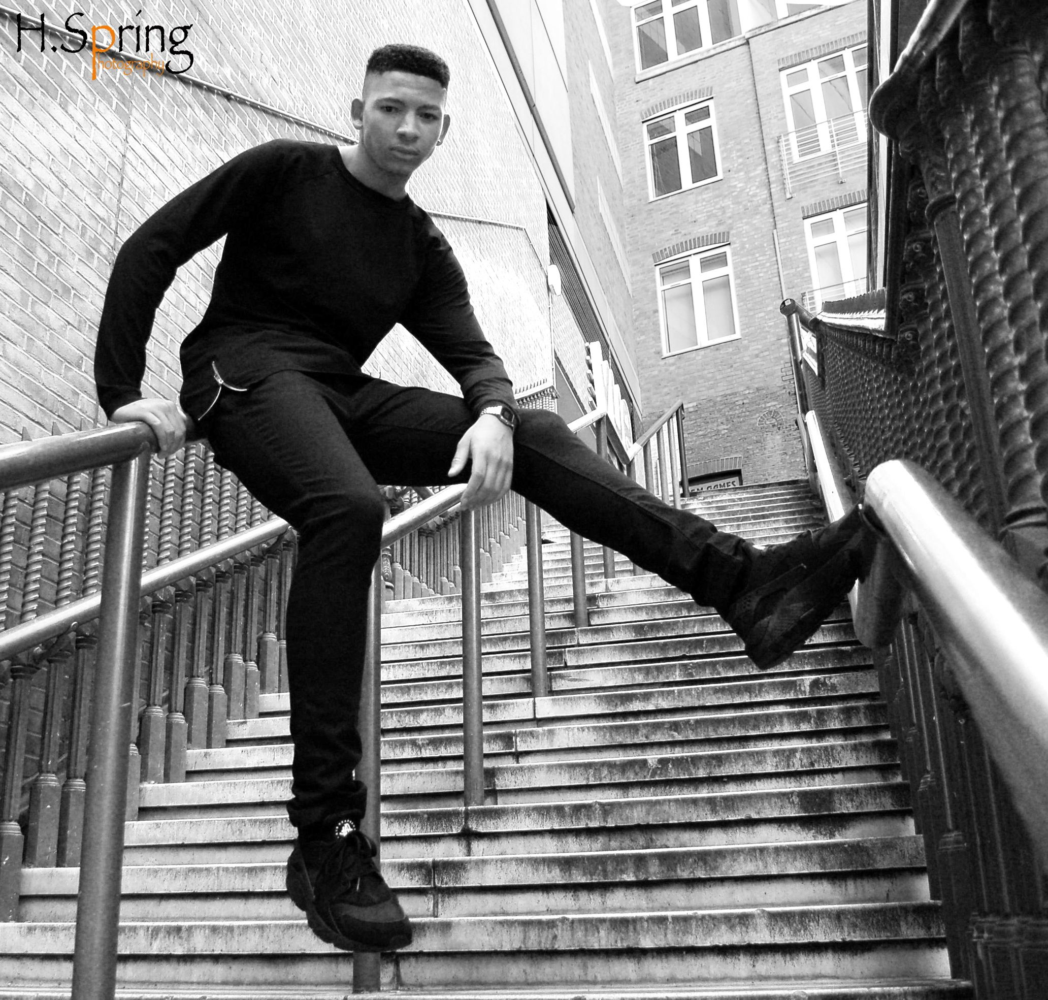 Male model edgy black and white photography croydon portfolios