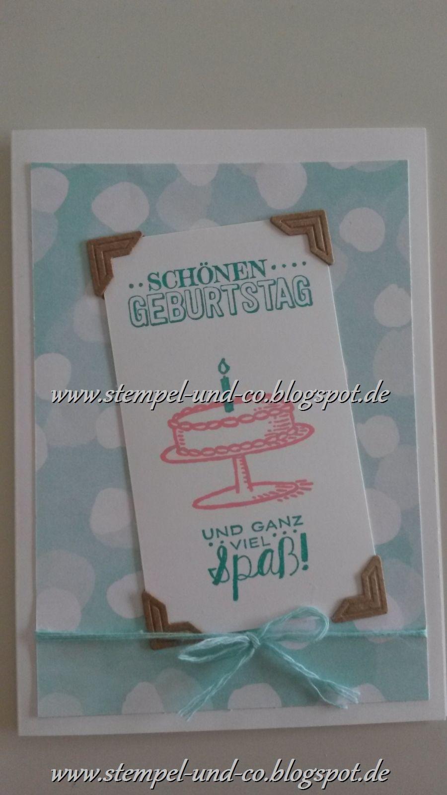 #saleabration #cards #stampinup #kreidetinte #designerpapier #geburtstag