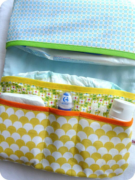 Changing Pouch Seraphin Le Lutin Collection For Diapers And Wipes Pochette Range Couche Lingettes Bebe