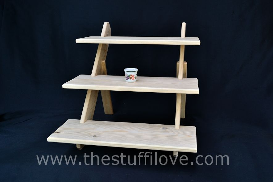 3 Tier Deep Standard 50cm 19 75 Portable Table Top Display Stand Display Shelves Table Top Display Stand Table Top Display