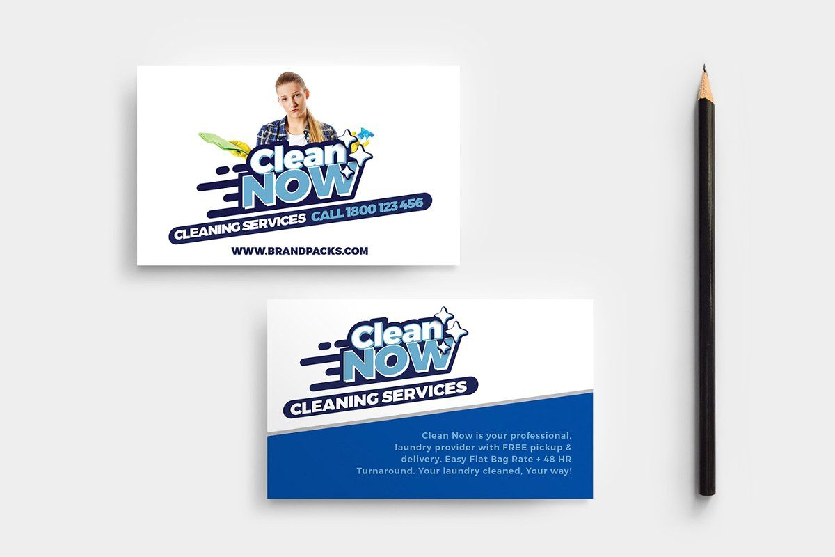 Cleaning service business card in 2020 business cards