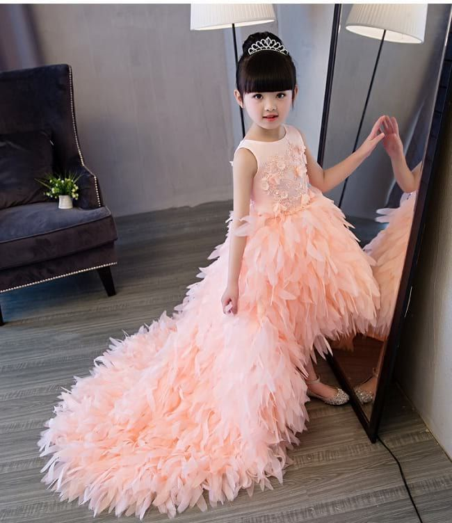 2257f018e3 Tutu Floral Girl Gown with Detachable Tail. 20 Best Girls' Party Wear Frocks  & Dresses Designs for Wedding ...