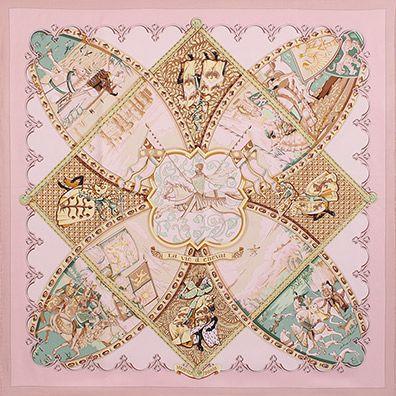 luxury-scarves.com 'La Vie à Cheval', Laurence Bourthoumieux. 2001/02