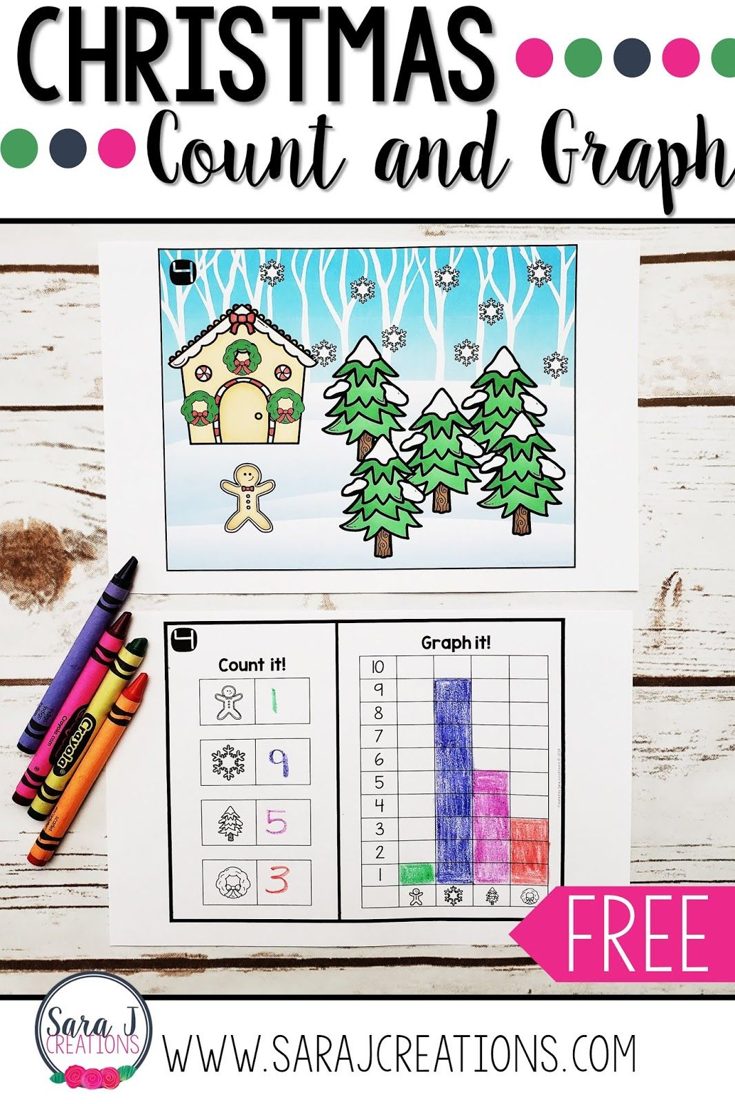 Free Printable Christmas Count And Graph Worksheets