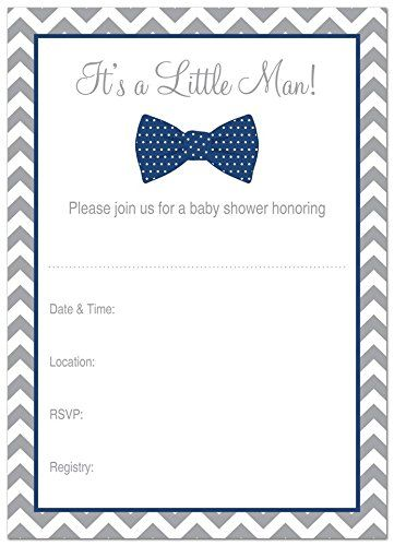 24 cnt little man bow tie fill in baby shower invitations navy 24 cnt little man bow tie fill in baby shower invitations navy filmwisefo