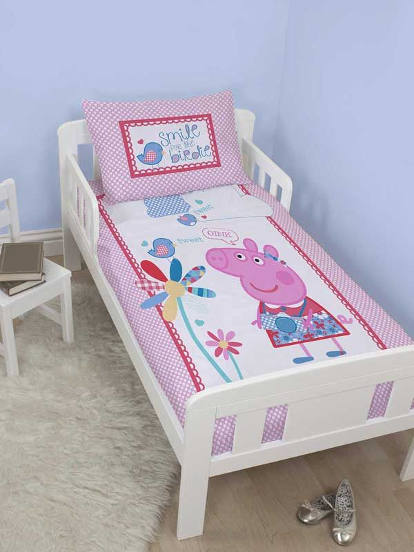 Peppa Pig Tweet Junior Duvet Cover Toddler Bedding Quilt