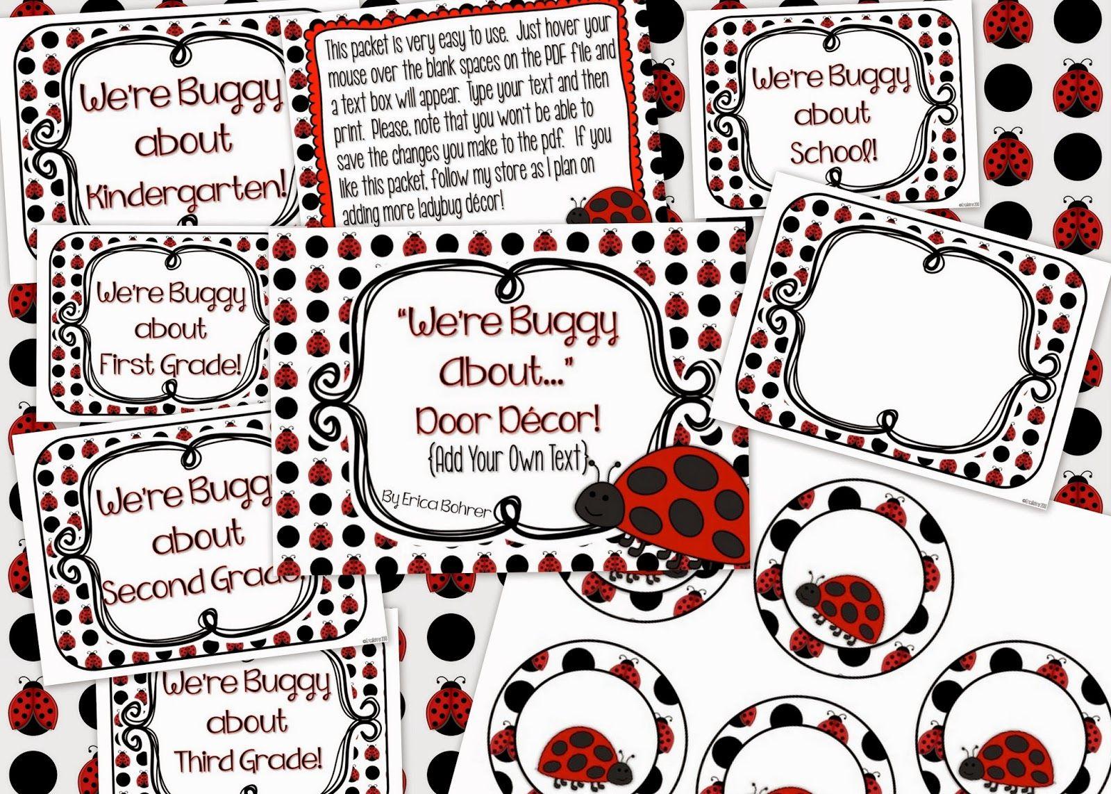 Ladybug Classroom Decoration Ideas : Classroom door decor ideas school ideas classroom