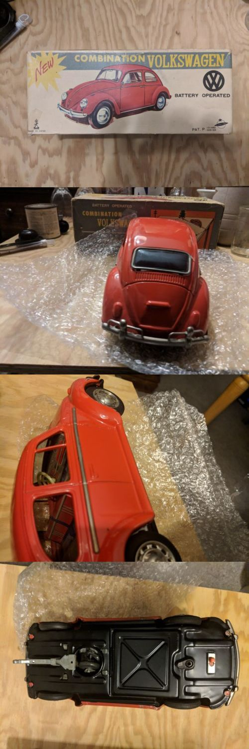 Vehicles 158799 Antique Tin Toy Rare Anese Volkswagen Beetle Penger Car Battery Ed It Now Only 500 On Ebay