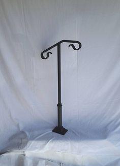 Best Single Post Ornamental Hand Rail 1 Or 2 Step Railing For 640 x 480