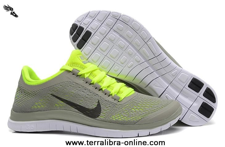 Light Gray Yellow Nike Free 3.0 V5 Womens Shoes 580392-071