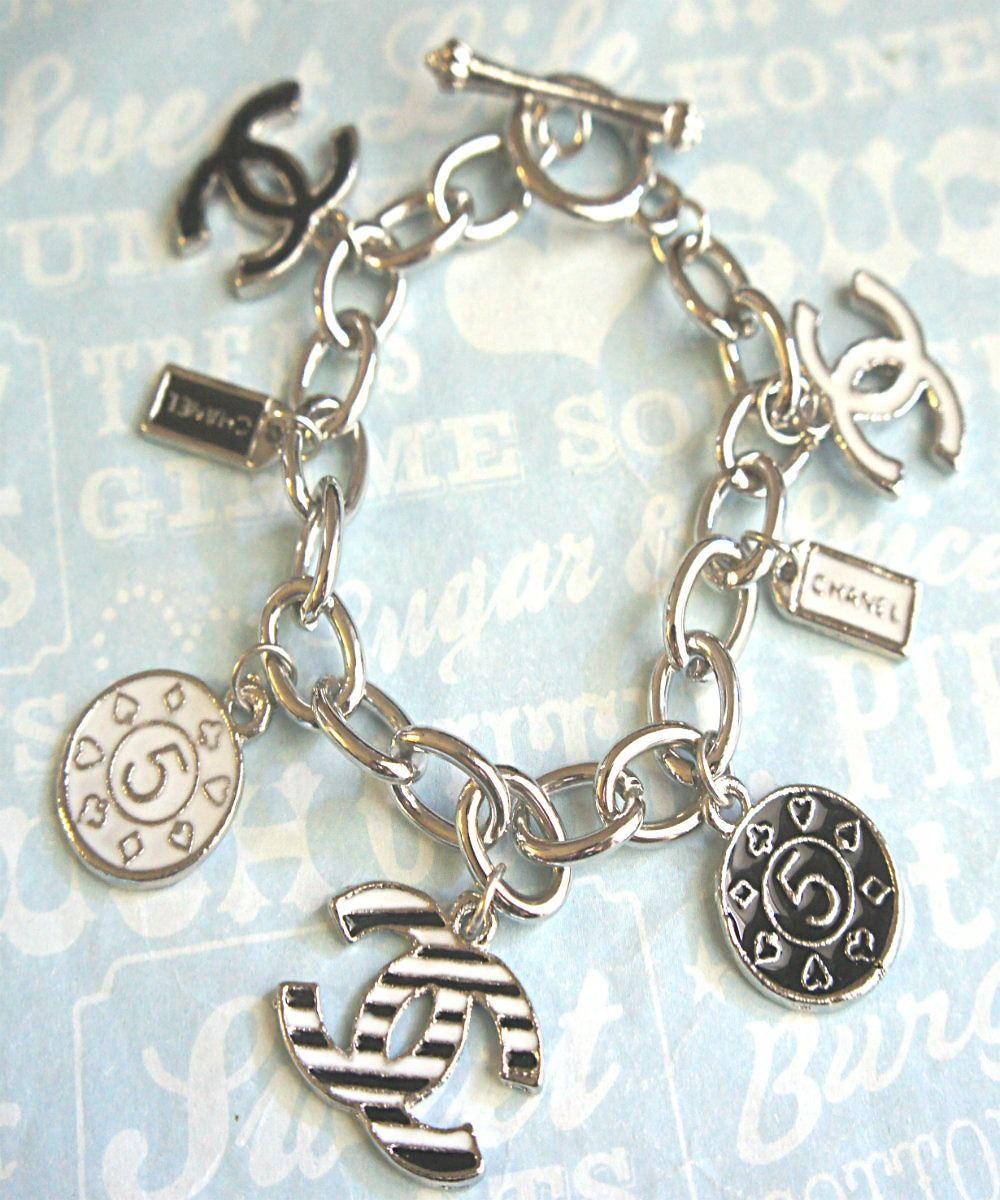 adb7add4b850 chanel inspired charm bracelet #shoplately Chanel Fashion, Fashion Bags,  Charm Bracelets, Charm