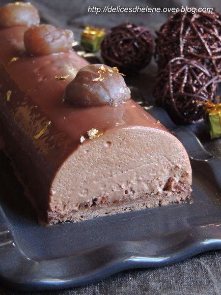 buche chocolat marrons marmiton
