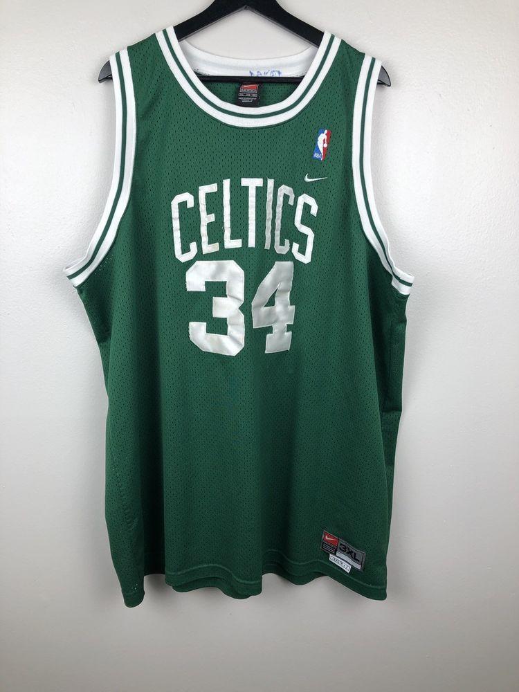 60d8bda7707e Vtg Nike Team Paul Pierce  34 Boston Celtics NBA Men s Sewn Jersey Size 3XL