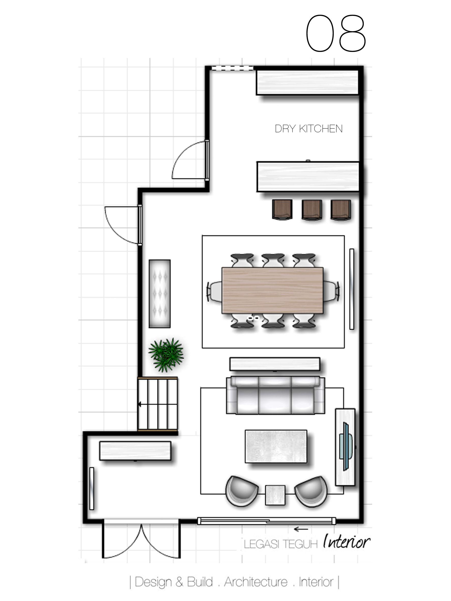 pilihan 08 u2022 ruang dibahagikan kepada 3 bahagian ruang tamu ruang rh pinterest com