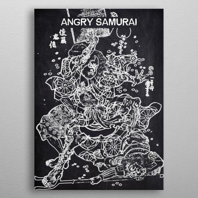 ANGRY SAMURAI by FARKI15 DESIGN | metal posters - Displate | Displate thumbnail