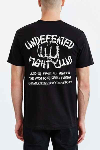 Undefeated Fight Club Tee - Urban Outfitters