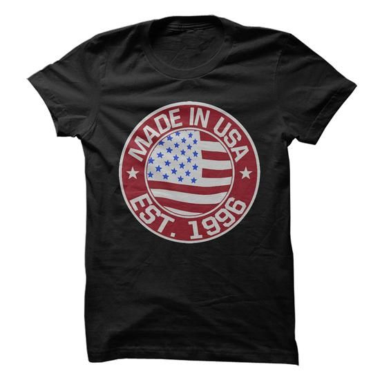 Made In USA, Established 1996 - #tshirt couple #sweatshirt men. FASTER => https://www.sunfrog.com/LifeStyle/Made-In-USA-Established-1996.html?68278