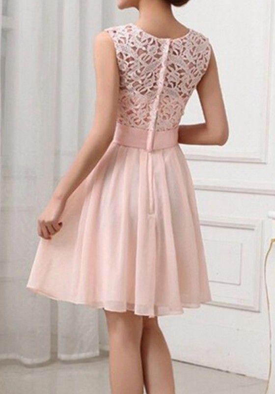 Mini vestido calados de encaje bodycon del vendaje dama de honor del ...