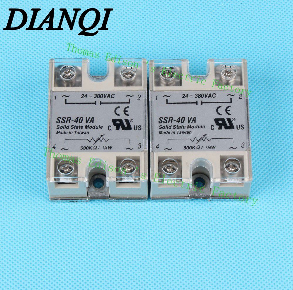 1pcs Free Shipping Solid State Relay Ssr 40va 40a 500k Ohm To 24 Ac Schematic 380v Resistance Regulator