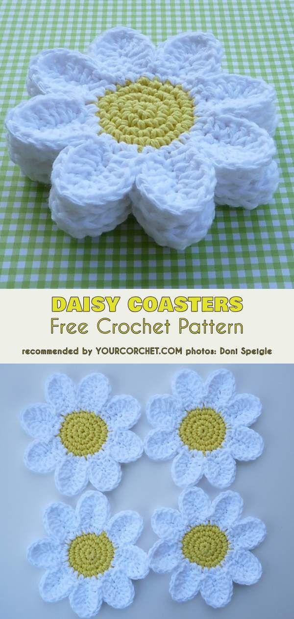Crochet Flower Coasters The Best Ideas #crochetpatterns