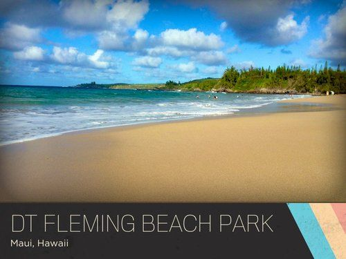 d.t. fleming beach park - maui, hawaii