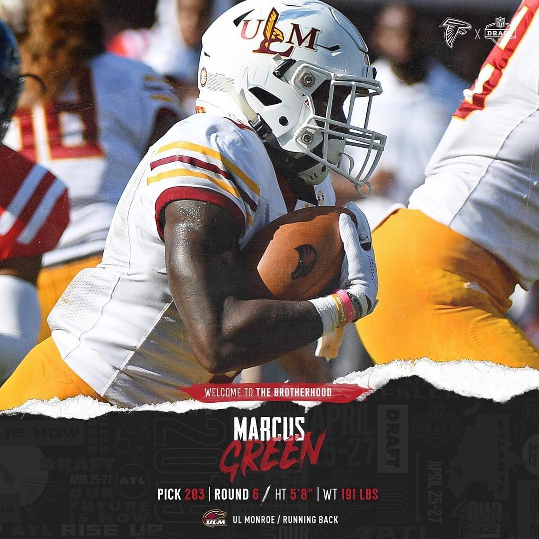 Double Tap To Welcome Rb Marcus Green To The Brotherhood With Images Atlanta Falcons Atlanta Brotherhood