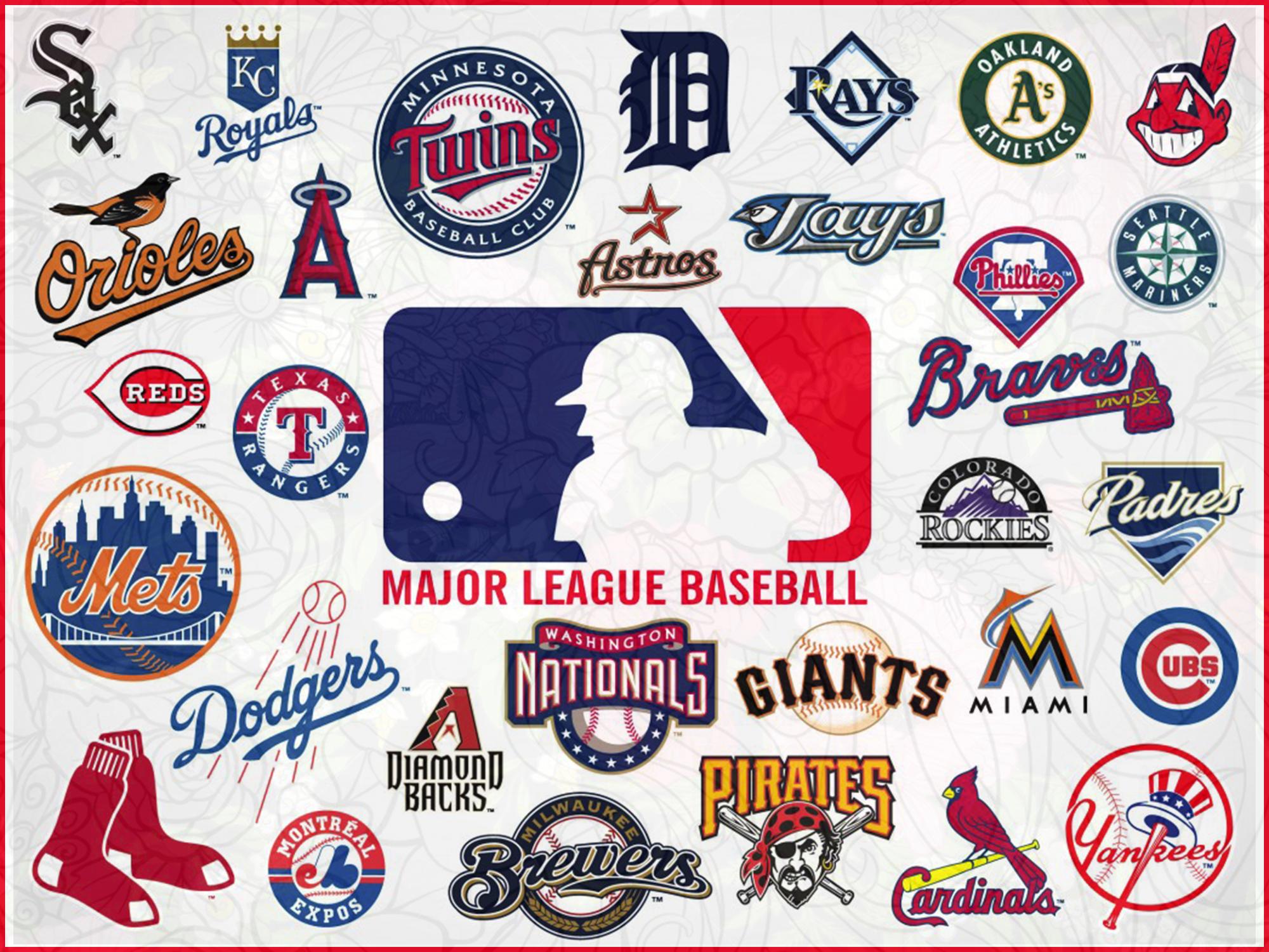 Mlb Teams Logo Bundle Svg Mlb Teams Svg Mlb Teams T Shirt Mlb Teams Logo Softball Mom Svg Sof Baseball Teams Logo Mlb Team Logos Major League Baseball Logo