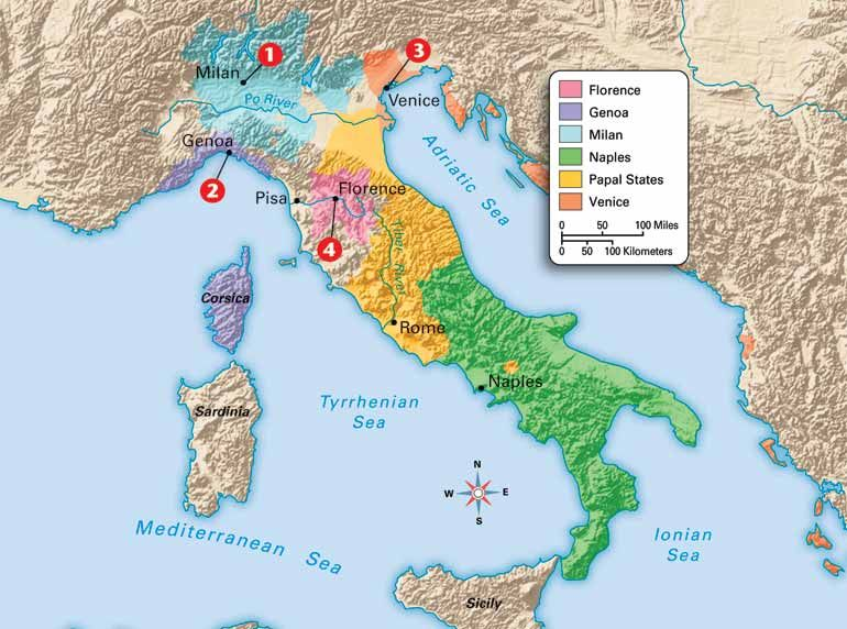 Image result for map of the renaissance