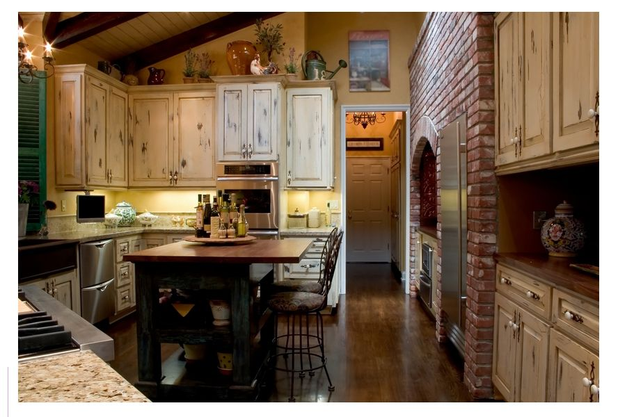 French country kitchen Kitchen Ideas Pinterest Rustic country - French Country Kitchens