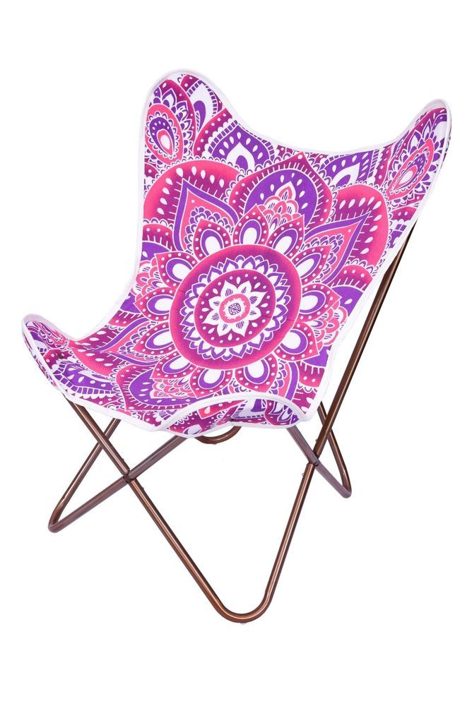Pink Multi Color Cotton Replacement Cover For Butterfly Chair #ganeshakali