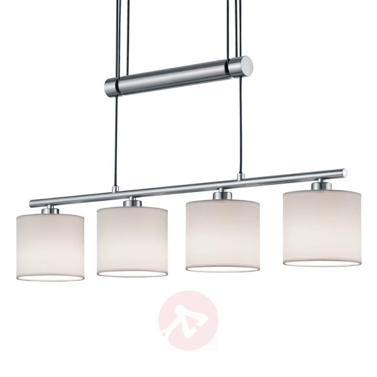 4 Pkt Lampa Wisząca Garda Białe Klosze Z Tkaniny Lampy