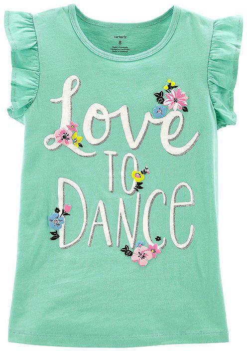 3da252e3 Carter's Graphic T-Shirt Girls   Products   2t girl clothes, Kids ...