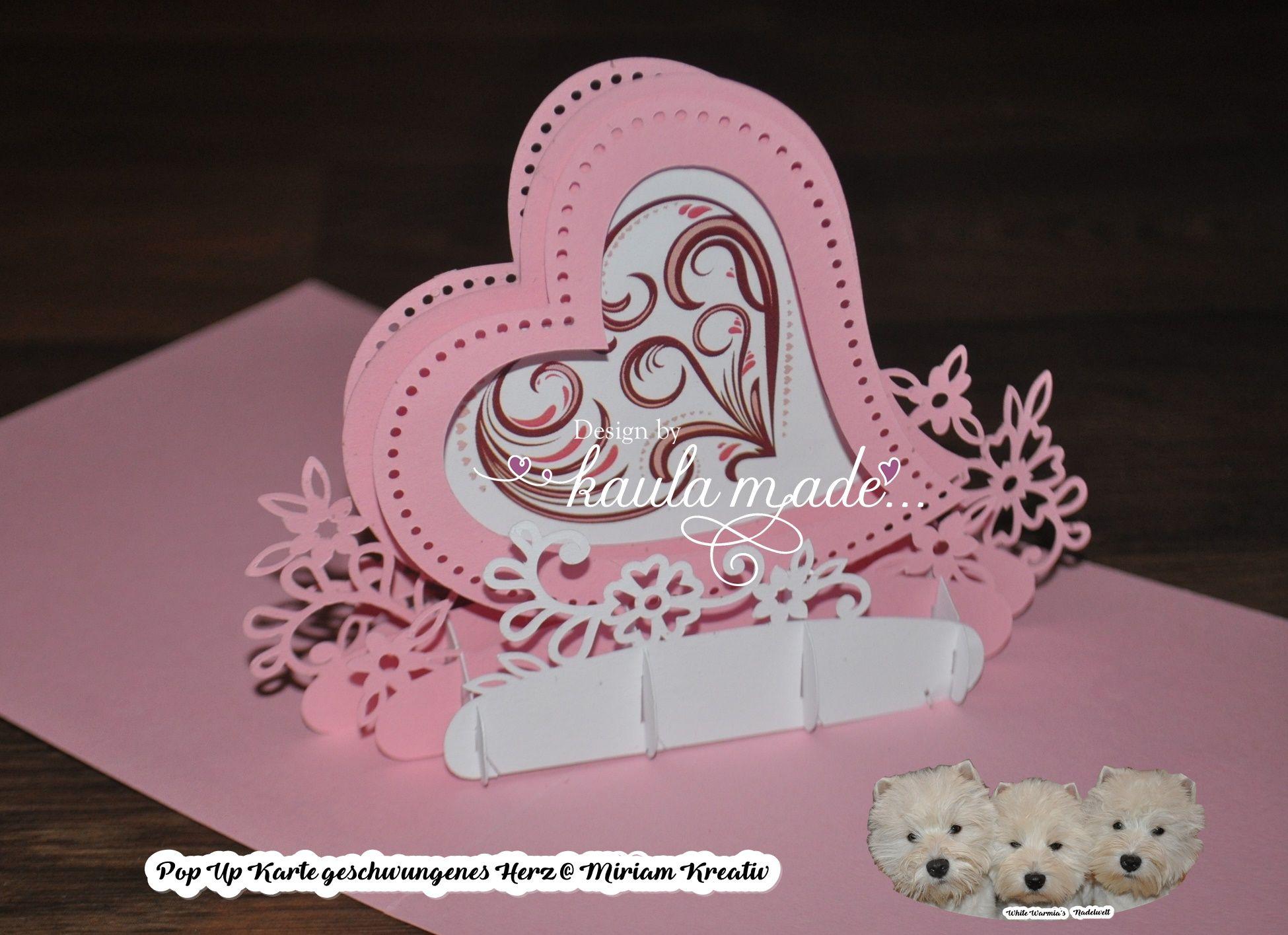 Plotterdatei Valentine Hearts | Plotten mit Kaula Made | Pinterest ...