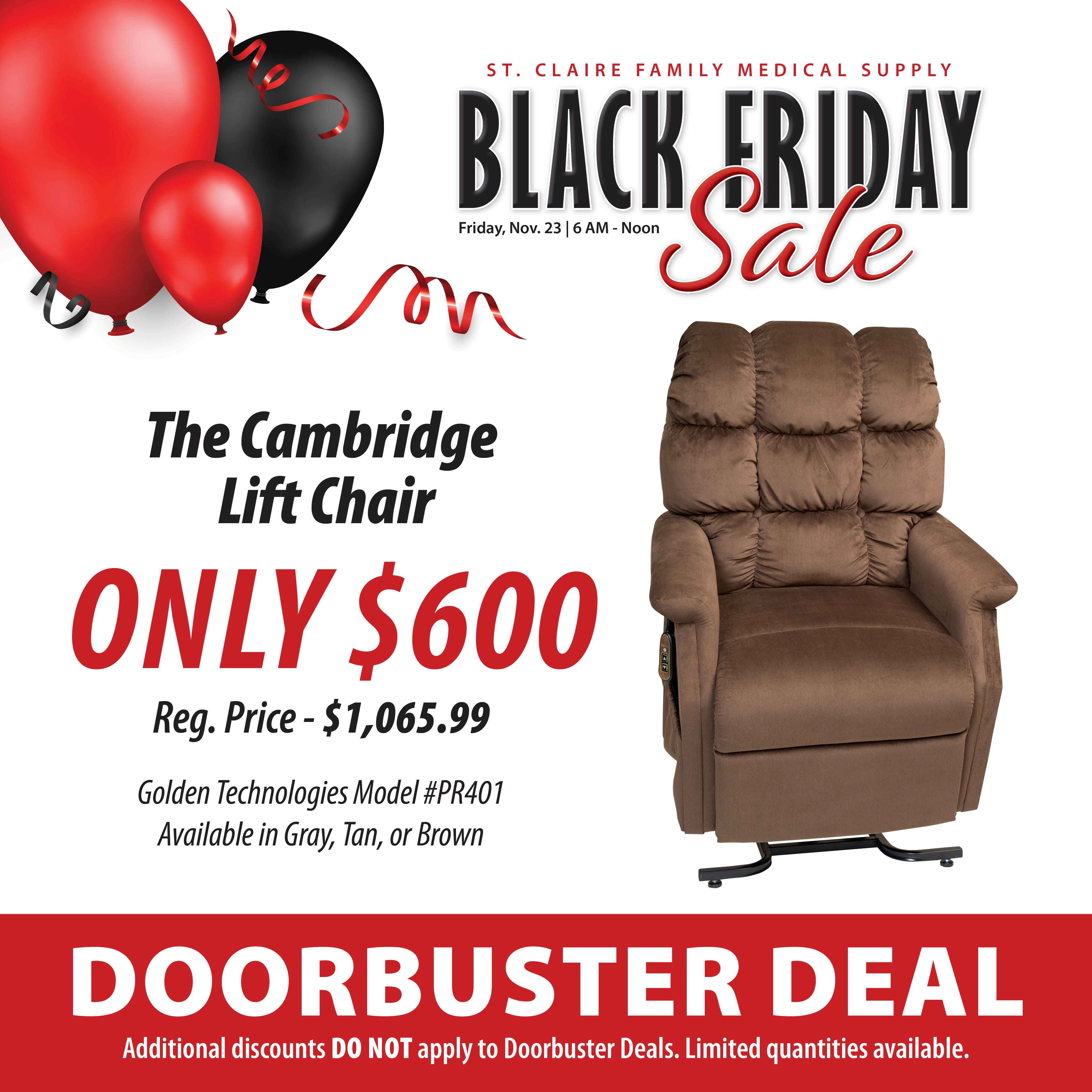 Check out this great doorbuster deal on the cambridge lift