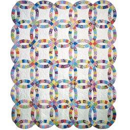 Precut Double Wedding Ring Quilt Kit Quilting Pinterest Quilts