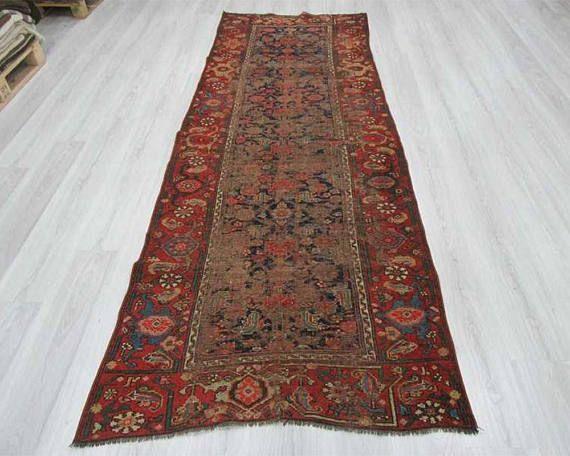 rug on carpet in hallway. Antique Persian Runner Rugs, Carpet Runners, Hall Oriental Runner, Kitchen Rug, Wool, Unique Colorful Rug - TK30909 On In Hallway N