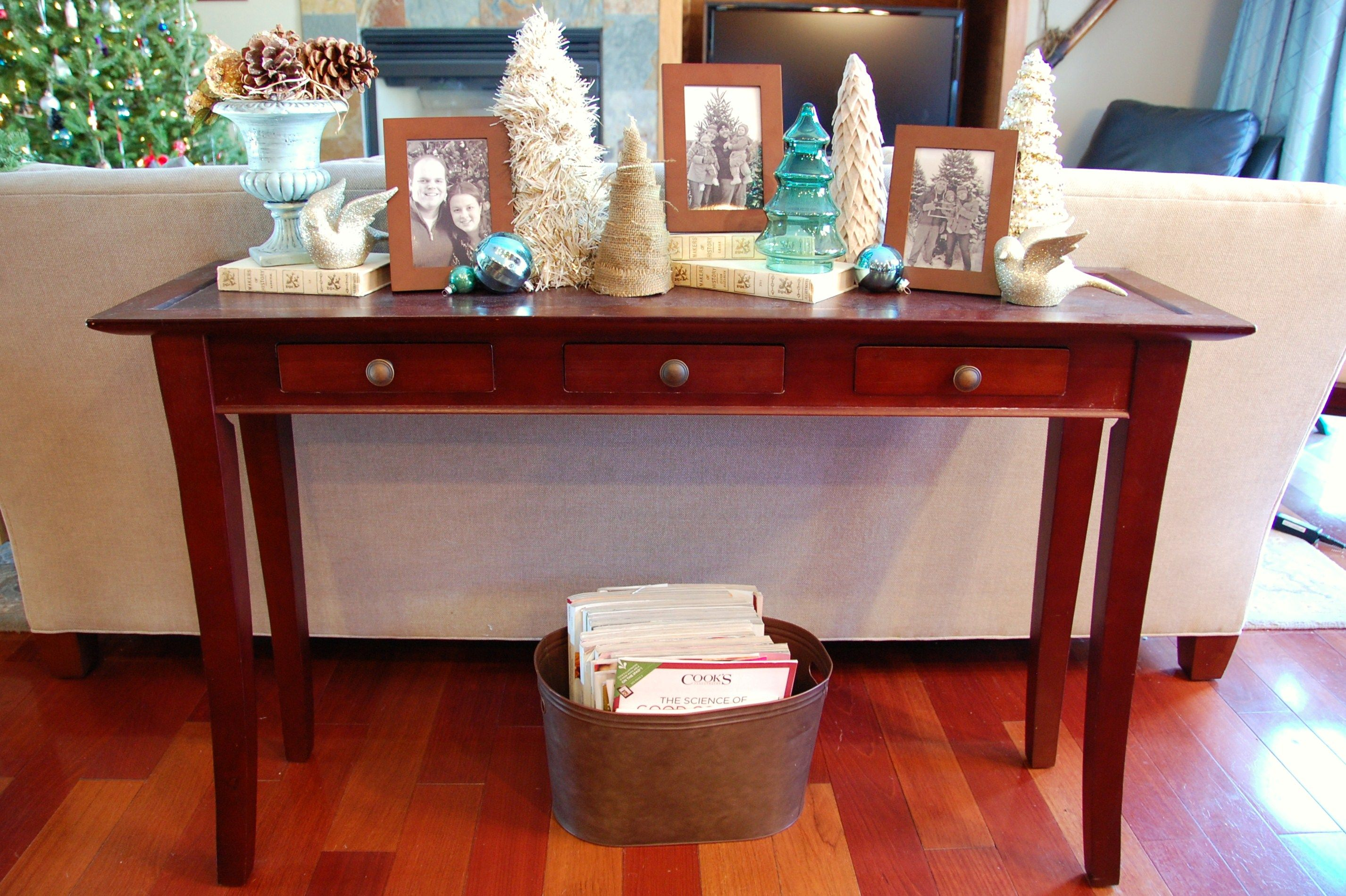 Cool Image Result For Decorating Sofa Table For Christmas Sofa Machost Co Dining Chair Design Ideas Machostcouk
