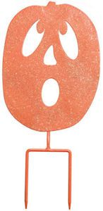Greet your Halloween guests with a Spooked Pumpkin Sign and Yard Decoration. Just stick stake in yard and you have a funky Halloween Yard decoration that can be enjoyed for years to come. And has a hook on the back so it can be hung from a wall. Free Shipping. $15.99.