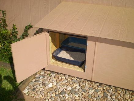Indoor Outdoor Litter Box Litter Box Outdoor Cat House Outdoor Cat Enclosure