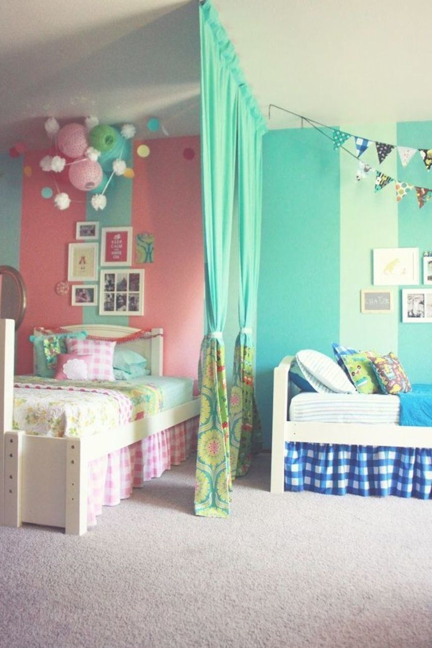 dividing the room for boy and girl shared bedroom Decorative