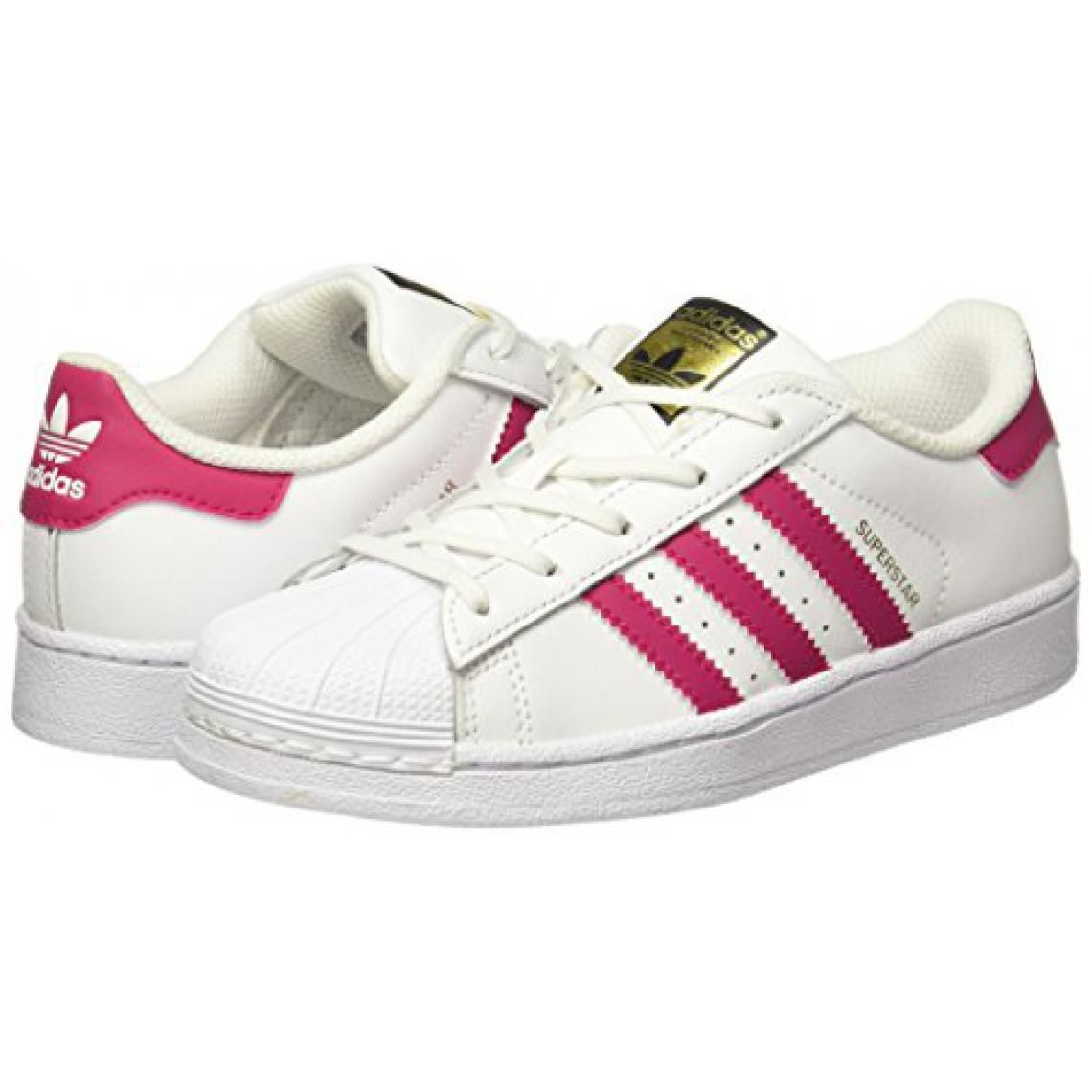 Baskets Superstar Adidas Originals fille - Blanc et Rose ...