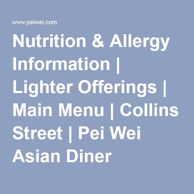 pei wei asian diner nutrition