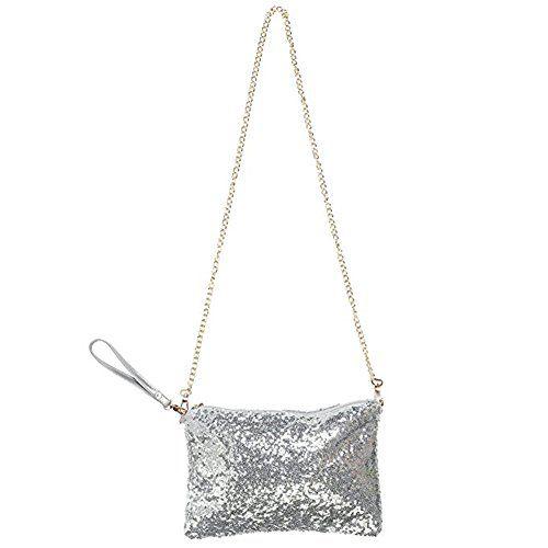 9d191636635 Lady Glitter Sparkling Bling Sequins Crossbody Wristlet E... https://www