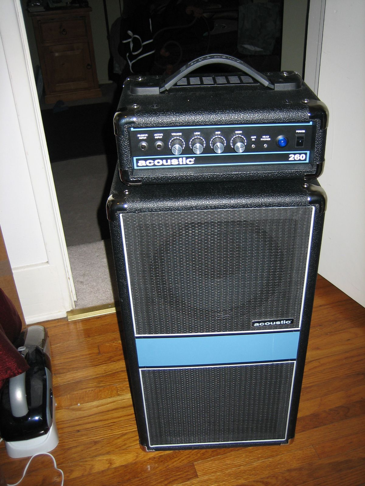 Acoustic 260 bass amp. I wanted it to sound like a mini folded ...